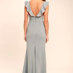 Grey Low V Gray Gown